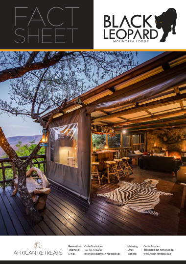 Black Leopard Mountain Lodge Fact Sheet