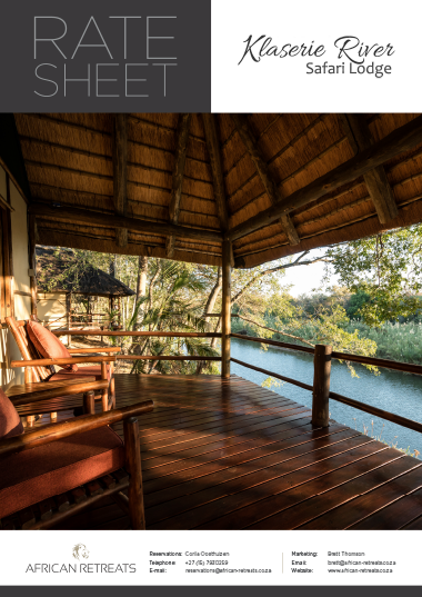 Klaserie River Safari Lodge Rates