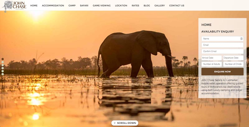 John Chase Safaris Website