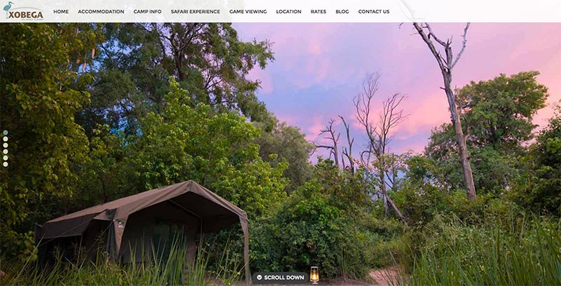 Xobega Island Camp Website