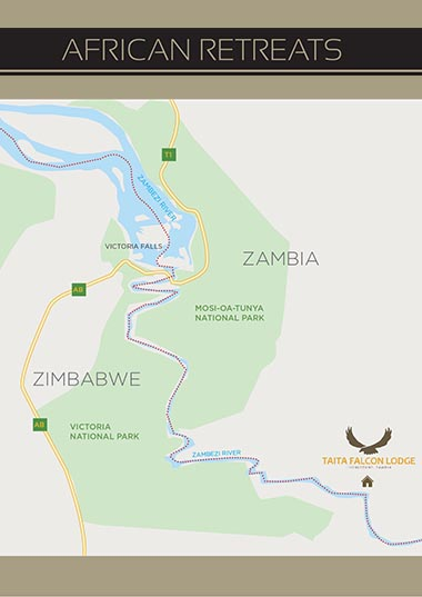 Map of Zambia Camps