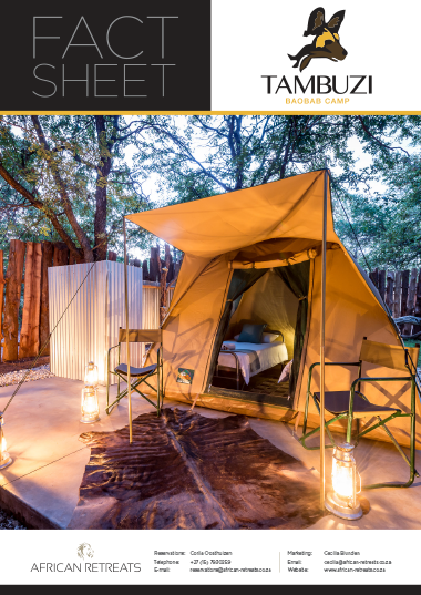 Tambuzi Baobab Camp Fact Sheet